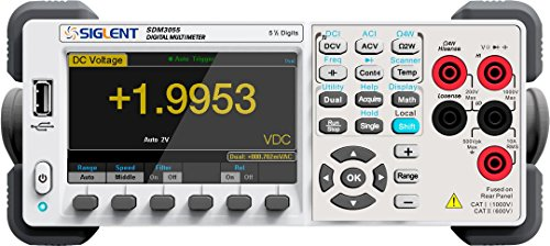 Siglent sdm3055Precision Desktop Digital Multimeter AC/DC Volt Amp Hz Temp
