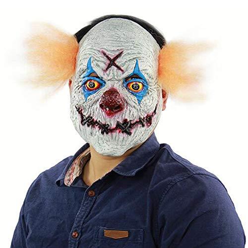 S&D Horror Bloody Clown Maske, Halloween Ostern Thriller Bloody Role Cosplay Scary Dress Up Horror Zirkus Clown Requisiten Kopfbedeckung Ausrüstung, Latex Umweltsicherheit