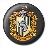 Harry Potter Botón Broche Insignia Oficial Hufflepuff Escuela Logotipo Cresta
