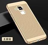 Coque Huawei Honor 5C,[Dissipation de chaleur],Coque Structure de maille,Anti empreinte digitale,Antidérapant,Mince Lisse Protection Complète Mat Récurer dur Coque Rigide Étui pour Honor 5C(TQ4-5)