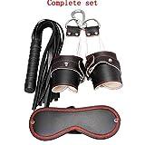 KUKU Slave Suit Hängegriff Peitsche Goggles Folter Supplies Passion Einstellwerkzeug Erwachsene Spielzeug Größe 22,0 Cm * 15,0 Cm * 7,0 Cm (Schwarz)