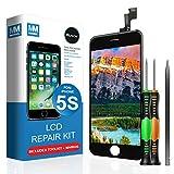 MMOBIEL LCD Display Touch Screen Digitizer Ersatz für iPhone 5S (Schwarz) Professionelles Reparatur Set mit einfacher Anleitung