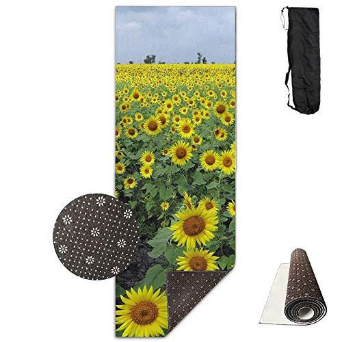 Louis Berry Yogamatte, Sonnenblumenfeld, rutschfest