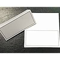 shop inc Pack Of 10 Place Cards (White/Silver Colour)