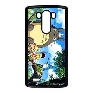 Ghibli My Neighbor Fond d'écran 1024X768 Coque LG G3 Coque de téléphone portable Case Noire A4R6SD5K personnalisée Retour
