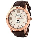 Swag Mustache Analogue White Dial Men's ...
