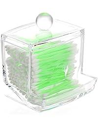 Wattestäbchen Kosmetex Acryl Behälter Box für die Aufbewahrung, 11 x 9 x 5 cm