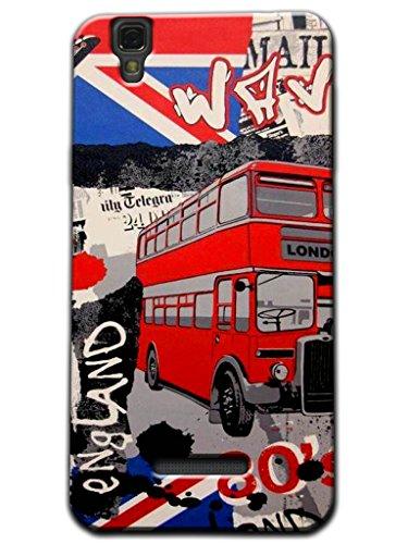 Kaira Brand Designer White case cover For Micromax Yu Yureka(England bus)