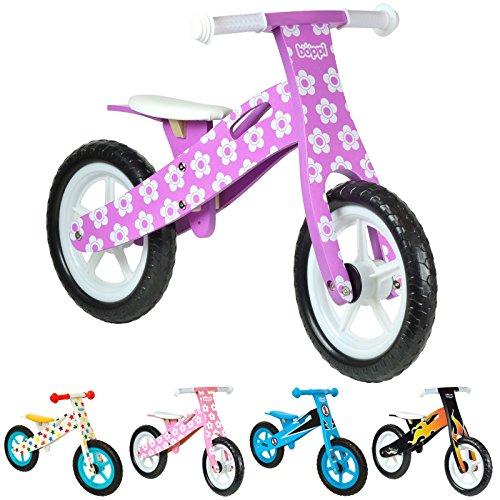 Vélo en bois boppi® pour développer l'équilibre de 2 à 5 ans Fleur Mauve
