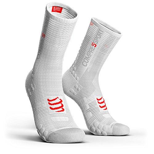 COMPRESSPORT Pro Racing V3.0 Bike Socks White Schuhgröße T3   EU 42-44 2019 Fahrradsocken - Racing Herren-socken