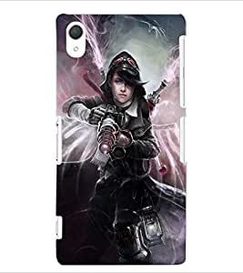 ColourCraft Ghost Rider Girl Design Back Case Cover for SONY XPERIA Z2