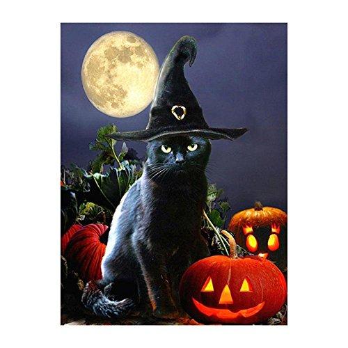 mikolot Halloween Black Cat 5D Volle Bohrer Diamant Gemälde DIY Craft Kreuzstich