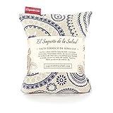 Saco Térmico de Semillas aroma Lavanda, Azahar o Romero tejido Espirales (Romero, 23 cm)