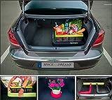 Gepäckfixierung SPACEFIX® (Schwarz) - Original, praktisch, Befestigungselement in den Kofferraum Ihres Autos. Superqualität! Große 6 x 6 x 100cm. Perfektes Geschenk für Sie und ihn! Mit starkem Klettverschluss, der auf Nadelfilz Teppichboden im Kofferraum klebt und ihr Gepäck im Kofferraum fixiert. Für eine ideale Fixierung des Gepäcks in dem Kofferraum Ihres Wagens empfehlen wir üblicherweise 2 Stk. von SPACEFIX® zu nutzen.