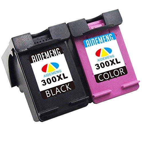 Aidemeng rigenerata per hp 300 xl cartucce d'inchiostro (1 nero,1 colore) compatibile con hp deskjet 2410 2418 2423 2430 d1600 d1650 d1658 f2400 f2420 f2480,hp envy 110 114 120 100,hp photosmart 4690 4750 c4600 d110a (1 nero, 1 colore)