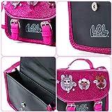 L.O.L. Surprise! LOL Dolls Handbag For Girls Featuring Glitterati Doll Unicorn, Diva, Queen Bee | Black & Pink Kids Handbag Crossbody | Children Cross Body Bag | Fashion Shoulder Bags For Kids