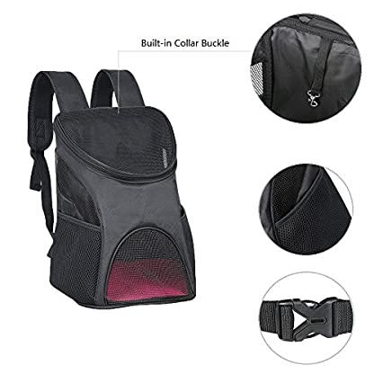 Ewolee Pet Carrier Backpack Breathable Shoulder for Puppy Up To 8lbs Head Out Travelling Pet Bag Free Collapsible Dog… 4