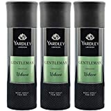 Yardley London Gentleman Urbane Deo Body Spray for Men, 220ml Each (Pack of 3)