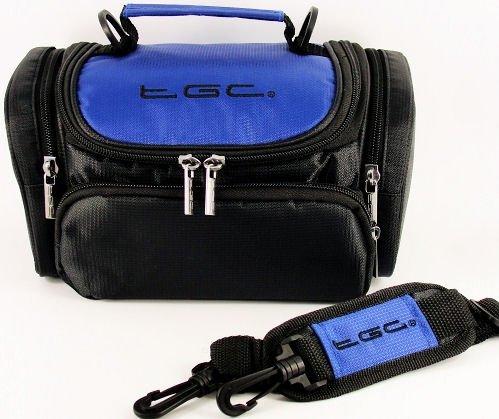 tracolla-borsa-tgcr-ultra-per-macchina-fotografica-telecamera-fujifilm-finepix-s4200-azzurro-nero