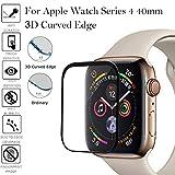 Gaddrt Gehärteter Glasschutz Full Coverage gehärtetes Glas Displayschutzfolie für Apple Watch Series 4 40mm (A)