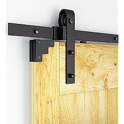 AiHom 170cm Quincaillerie de style porte de grange Rustique pour portes coulissantes intérieures