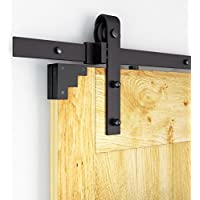 AiHom 183cm Kit de herraje de acero visible para una puerta de madera