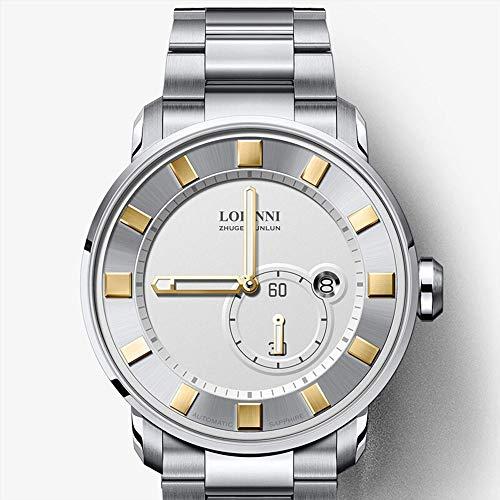 FNCUR Automatische Uhr Männlich, Mechanische Uhr, Business Hollow wasserdichte Uhr, 2019 New Swiss Style Herrenuhr (Color : B)