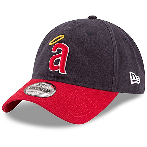 New Era California Angels Core 1971 Cooperstown 9TWENTY Adjustable MLB Cap, One Size -