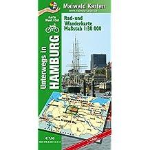Hamburg Ost/West - Rad- und Wanderkarte - mit Rückseite Hamburg Ost: Unterwegs in Hamburg (mit Umland). 1:30.000