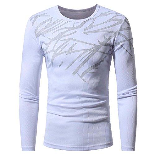 Herbst Winter Top Fashion Printing Herren Langarm T-Shirt Bluse (Twin-kostüme)