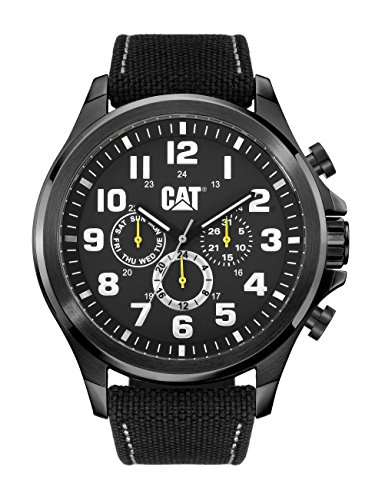 CAT operatore-Orologio da uomo al quarzo con Display analogico e cinturino in Nylon, PU.169,64.111, colore: nero