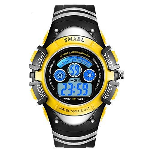 Blisfille Kinderuhr Junge Wasserdicht Kinder Uhr Nightlight Wecker Outdoor Sportuhr Armbanduhr Automatikuhr