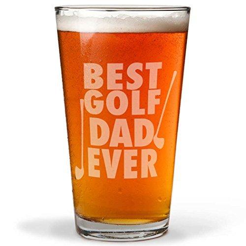 (Best Golf Dad Ever Gravur Bier Pint Wein Brille für Frauen Laser Gravur Wein Cup WINE Geschenke für ihn)