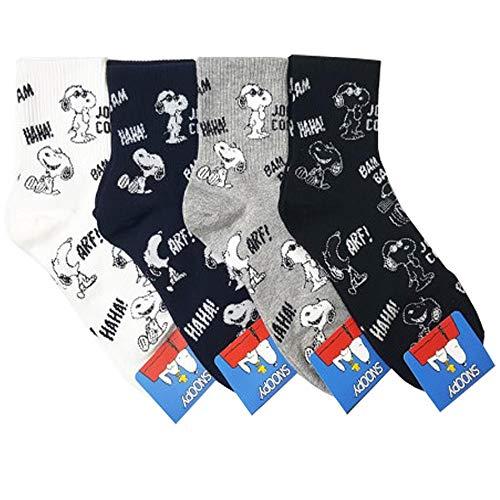 Die Peanuts Comics Charakter Mannschafts Socken mit Beutel Packung mit 4 Paaren - Snoopy