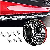 Paraurti auto Spoiler Spoiler Splitter, Gomma Universale Impermeabile Gonna Protector con Cool Elegante elegante modello in fibra di carbonio per camion SUV