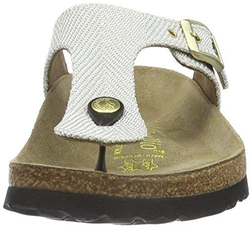 Birkenstock Gizeh Textil, Sandales  Bout ouvert femme Beige - Beige (Metallic Knit Beige)