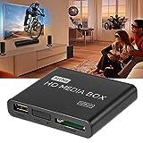 shuangfanbaihuo Mini Scatola per Lettore multimediale HD Full 1080p MPEG/MKV/H.264 HDMI AV USB + Telecomando Nero