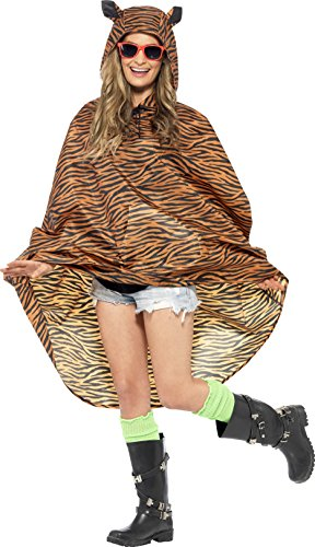 Party Poncho, Poncho mit Zugbeutel, One Size, 27610 (Damen Tier Kostüme)
