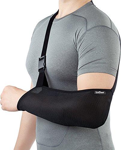 Preisvergleich Produktbild Schwarz Mesh Armschlinge, bietet einen effektiven und bequem Arm Ruhigstellung. Erhältlich in 5Größen