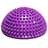 Queta 1 x Durian Ball Balance Training Fitness Kuppel Fußball Massage Ball Balance Bowl Sense Training Ball Yoga Ball Pilates Ball violett violett