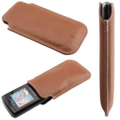 caseroxx Tasche/Hülle Business-Line Etui Simvalley SX-305 - Schutzhülle für Smartphone (Handy Sleeve in braun)