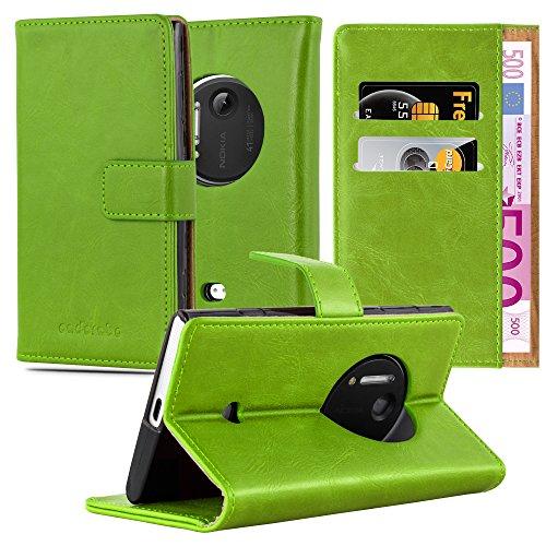 lle in GRAS GRÜN von Cadorabo - Handyhülle Luxury Design mit Magnetverschluss Standfunktion und Kartenfach Case Cover Schutzhülle Etui Tasche Book Klapp Style (Nokia Lumia 1020 Hard Hülle)