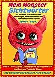 Mein Monster - Sichtwörter - Stufe 1 Buch 1 - Leute Tiere Farben Dimensionen Orte Verkehr