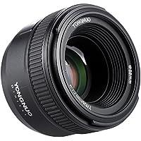 YONGNUO YN50mm F1.8 Abertura Grande AF Enfoque Automático FX DX Lente Full Frame para Nikon + Andoer Paño de Limpieza