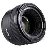 Lente Yongnuo YN50mm F1.8Gran apertura AF. Enfoque automático FX DX. Full Frame. Para Nikon + Andoer, con paño de limpieza.