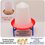 Praish Plastic Water Drinker for 50 Chicks and Quality Capacity Feeder 2.8l and 500mg