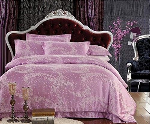 GFYWZ Vier Stück Seide und Baumwolle Jacquard Decke Bett Deckblatt, 7, 1.5?? - 7 Stück Jacquard-bett