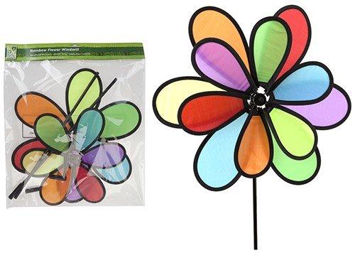 Jumbo Regenbogen Windrad windindspiele Magic Wheel Bunt Windrad Regenbogen hxb 45x30cm 2xtier (Jumbo-winkel)