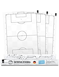 1x1SPORT Taktikfolie #FUSSBALL - Spielfeldfolien für Taktik, Aufstellungen, Spielzüge und Übungen