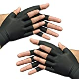 Medipaq® Anti-Arthritis Health THERAPY Gloves - 2 x PAIRs - Choose from Medium or Large (2x Pairs - BLACK (Medium))